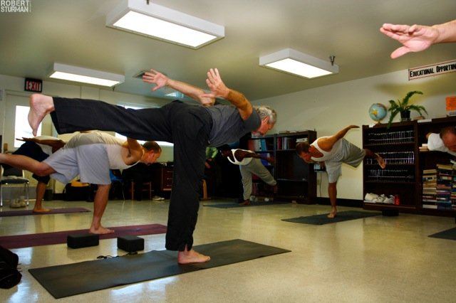 San Quentin Yoga Class Credit: Robert Sturman